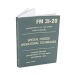 US Army FM31-20 Special Forces Operational Techniques Field Manual (Green)