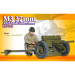 Tom Hackett M3 37mm Anti Tank Gun w Gunner ETO 1944
