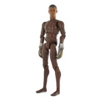 black Fire fighter with brown gloves nude body