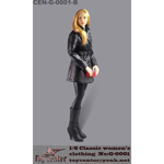Classic Women's Leather Suit Set (Black)