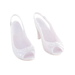 Opened High Heels Female Shoes (White)