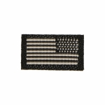 US Flag Patch (Black)