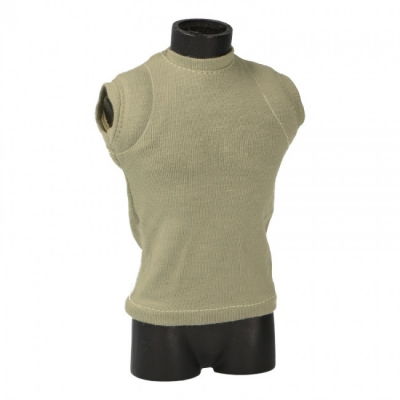 Tank Top with Shoulders Padding (Khaki)