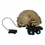 Airframe Ballistic Helmet with AN/PSQ-36 FGS NVG (Snake Skin)