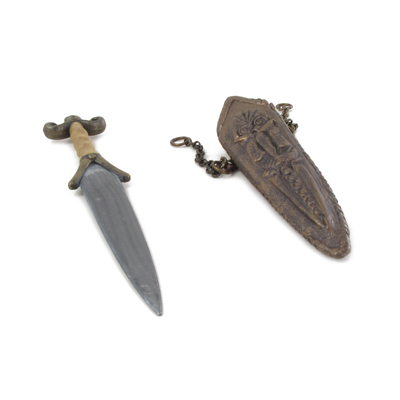 Diecast Celtic Dagger with Scabbard (Bronze)