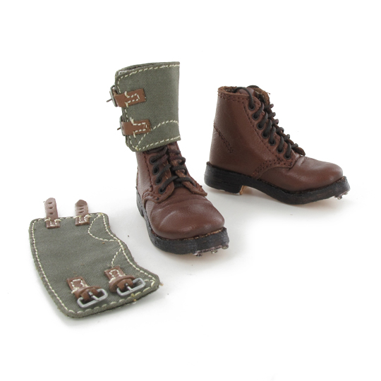 German ankle boots brown w/gaiters