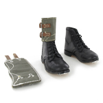 German heer ankle black boots with gaiters