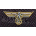 Wehrmacht breast and cap eagle white on tan for tropical uniform