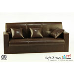 Leather three sofa (Brown)