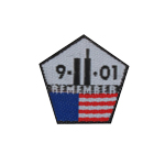 Remember 9-11-01 Pentagon Shaped Patch (White)