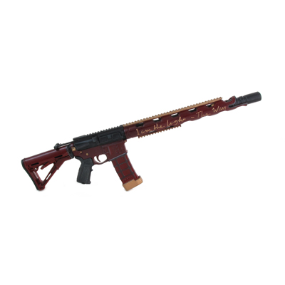 Custom AR 15 Assault Rifle (Red)