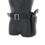 Cowboy pistol and holster set (Black left)