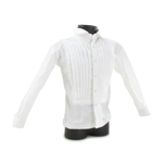 Pleat Tuxedo Shirt (White)