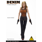 Female Denim Fashion Clothing Set (Orange)