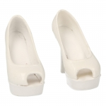 Female High Heeled Shoes (White)