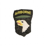 101st Airborne Screaming Eagle Patch (Black)