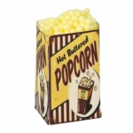 Medium Size Hot Buttered Pop Corn Box (Yellow)
