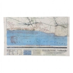 Omaha Beach-West Vierville-sur-Mer Topographic Map (Blue)