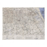 Montebourg  Topographic Map (White)