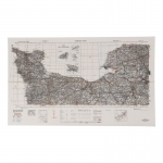 Cherbourg-Rouen Topographic Map (White)