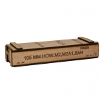 Wooden 105mm Shell Ammo Box (Beige)