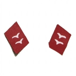 Luftwaffe Artillery Gefreiter Collar Tabs (Red)