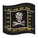 1943 Jolly Rogers 1995 Patch (Black)