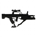 QBZ95 Assault Rifle with QLG91 Grenade Launcher (Black)