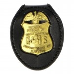 Federal Bureau Of Investigation Police Shield Badge (Gold)
