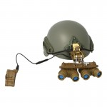 Sentry Ballistic Helmet with Ground Panoramic GPNVG-18 NVG (Khaki)