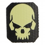Vampire Skull Patch (Beige)
