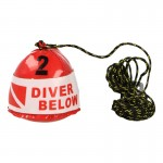 Diving Surface Marker with Rope (Red)
