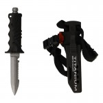 XS Scuba Beta Titanium Dive Knife with Sheath (Black)