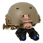 Fast Base Jump Helmet with L4G24 NVG Mount and AN/PVS-15 M953 Binocular NVG (Coyote)