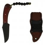 Combat Knife with Leather Sheath (Brown)