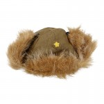 Fur Imperial Japanese Army Hat (Olive Drab)