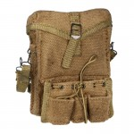 Worn Medic Canvas Bag with Cantle Ring Strap (Beige)