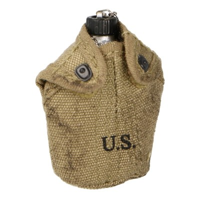 M42 Canteen with Worn Pouch (Coyote)