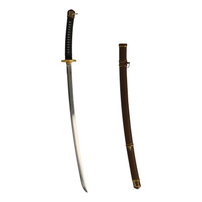 Diecast Japanese Officer Type 3 Shin Gunto Sword with Scabbard (Silver)