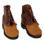 Suede Ankle Boots (Brown)
