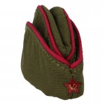 M36 Red Army Officer Pilotka Side Cap (Olive Drab)
