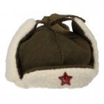 Fur Red Army Ushanka (Coyote)