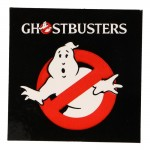 No Ghost Ghostbusters Sign Sticker (Black)