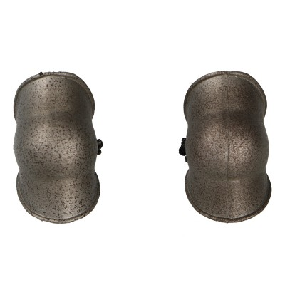 Female Cross Knight Elbow Pads (Grey)