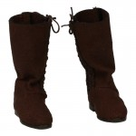 Suede Medieval Boots (Brown)