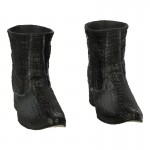 Crocodile Skin Boots (Grey)