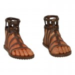 Feet with Sandals (Brown)