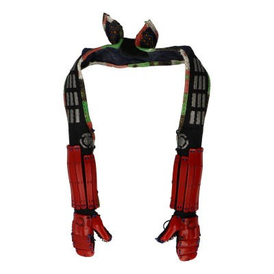 Female Kote Forearm Armors with Sleeves and Collar (Red)