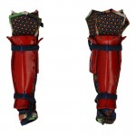Female Suneate Leg Armors with Kusazuri Knee Pads (Red)