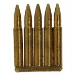 Diecast 7,92mm 5 Cartridges Clip (Gold)
